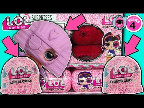 LOL Surprise Series 4 Under Wraps + LOL Fashion Crush | LOL Dolls Jelly Layer | LOL Doll Videos LOL