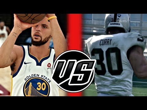 Can Steph Curry Get A 99 Yard Touchdown Faster Than He Can Hit 99 Three Pointers? NBA 2K18 Challenge