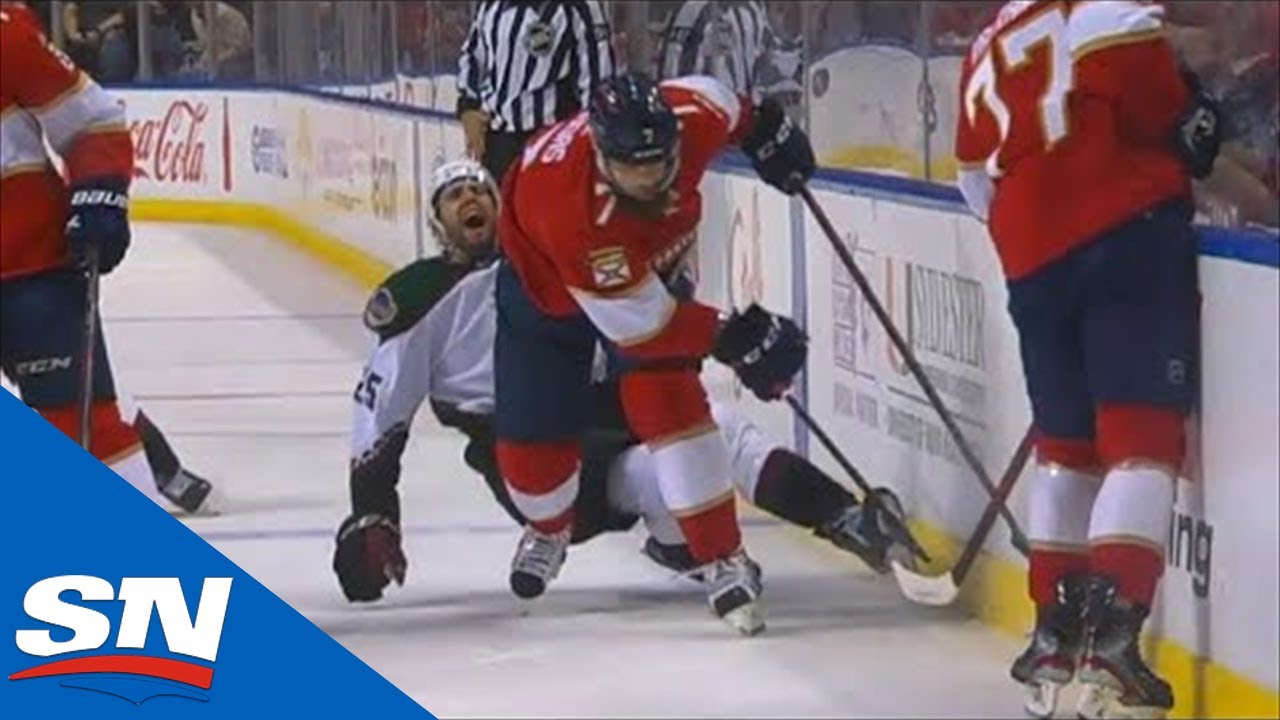 Download Radko Gudas Fights Ryan Dzingle After His Hit Injures Conor Timmins