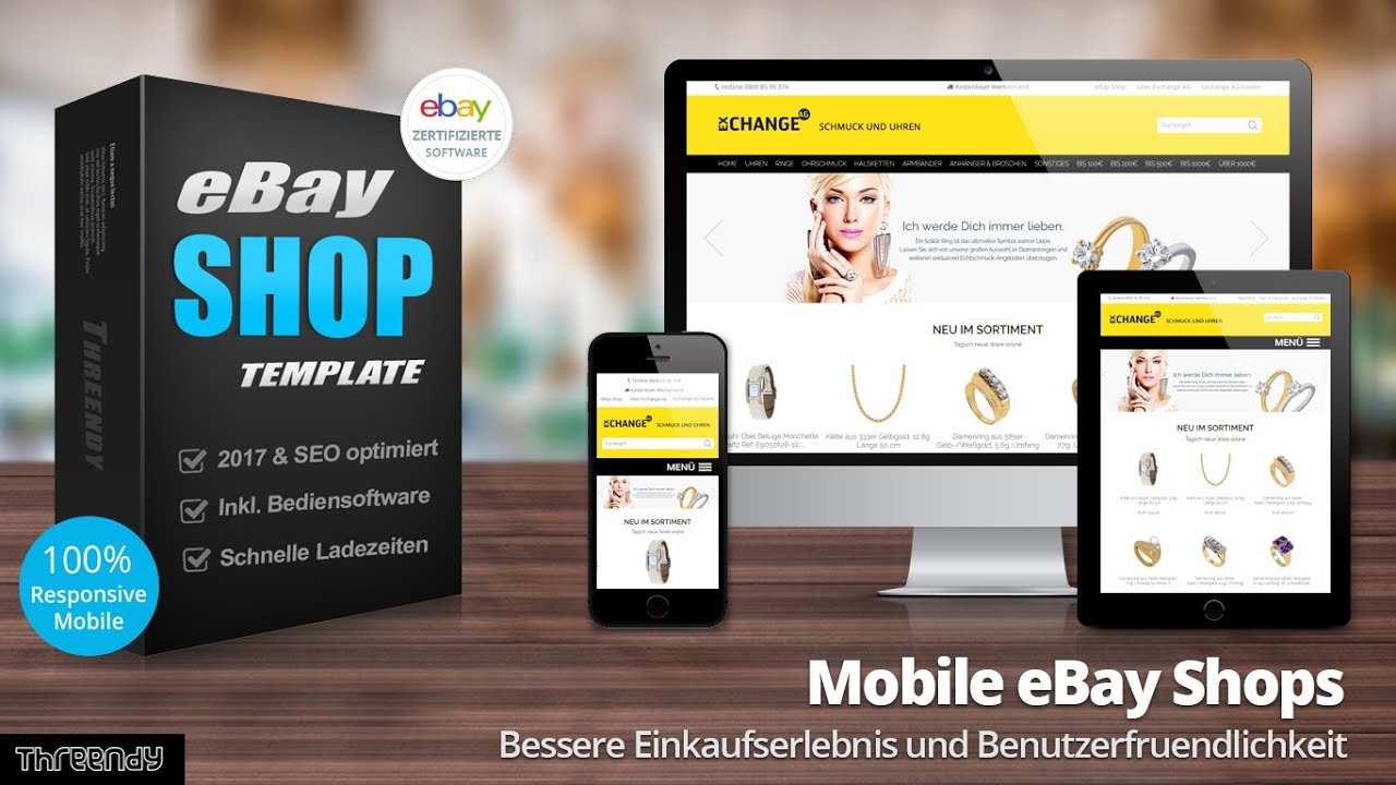 Mobile eBay Shop Template 2017 optimiert - YouTube