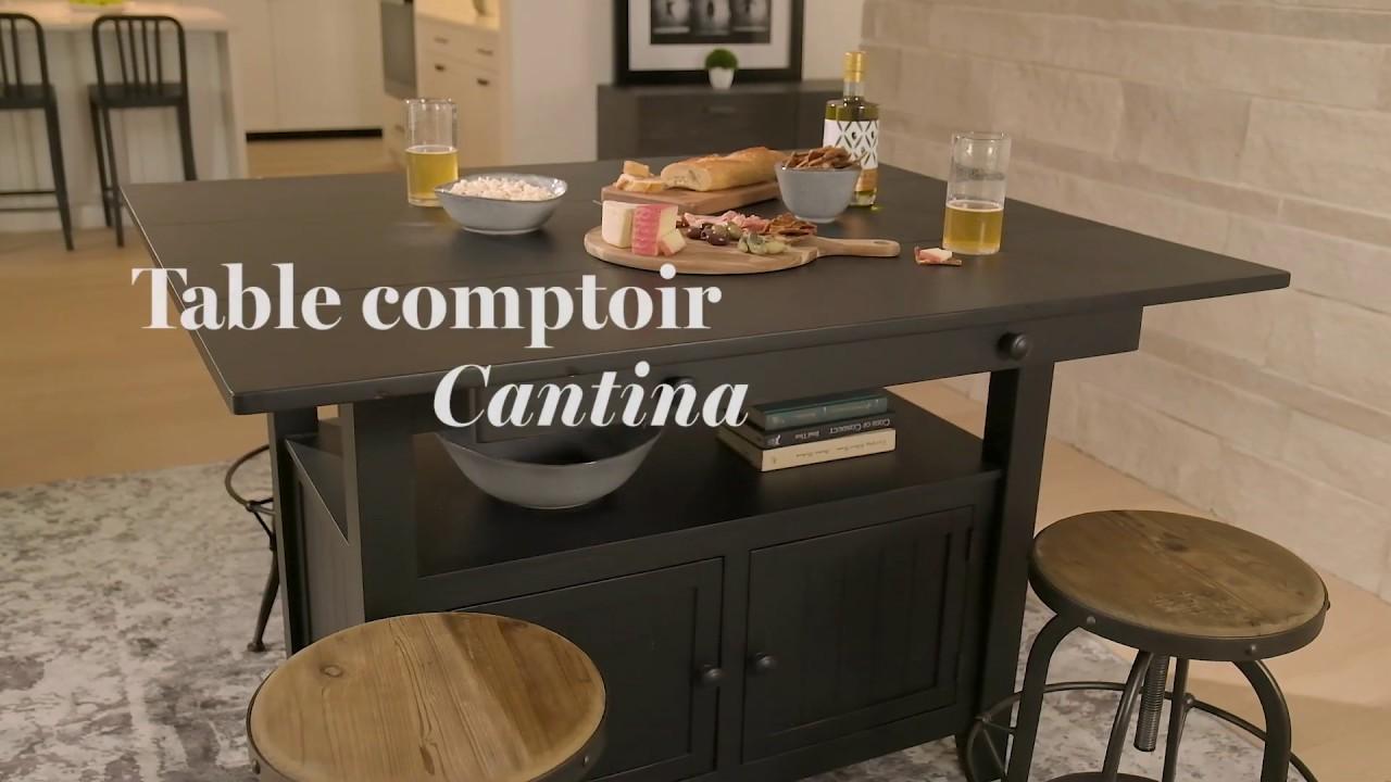 cantina ext counter table prairie white