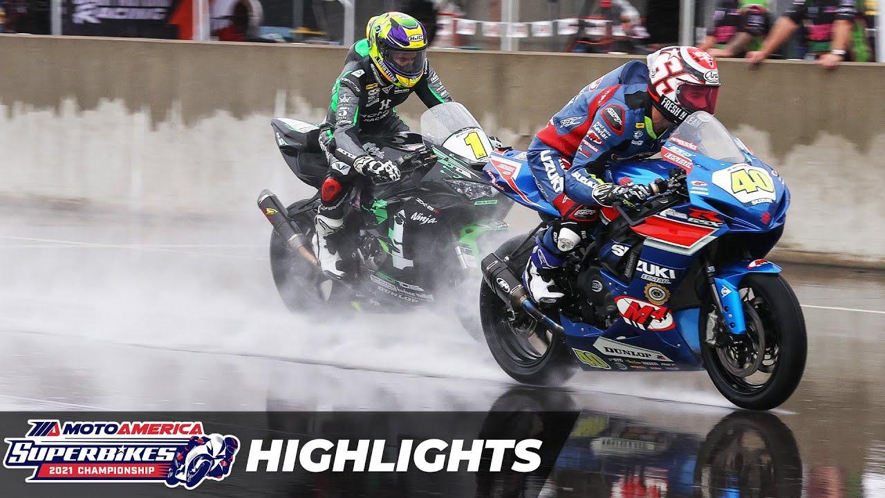 Download MotoAmerica Supersport Race 1 Highlights at Alabama 2021
