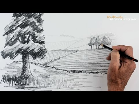 Start Drawing: PART 5 - Create distance in a Landscape