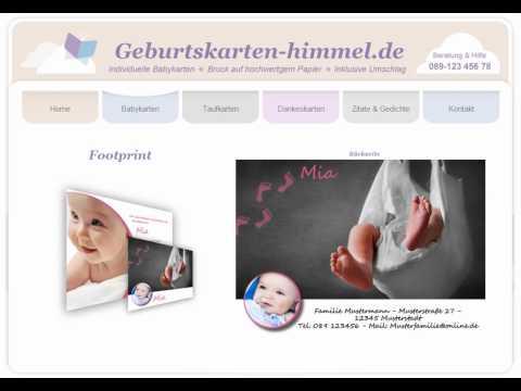 Babykarten vom Geburtskarten-himmel.de
