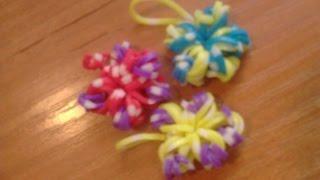 Как сплести цветок из резиночек Loom Bands - Видеоурок