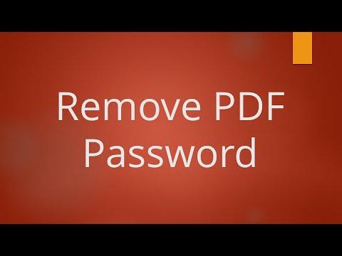 PDF Password Remover (Unlock PDF)