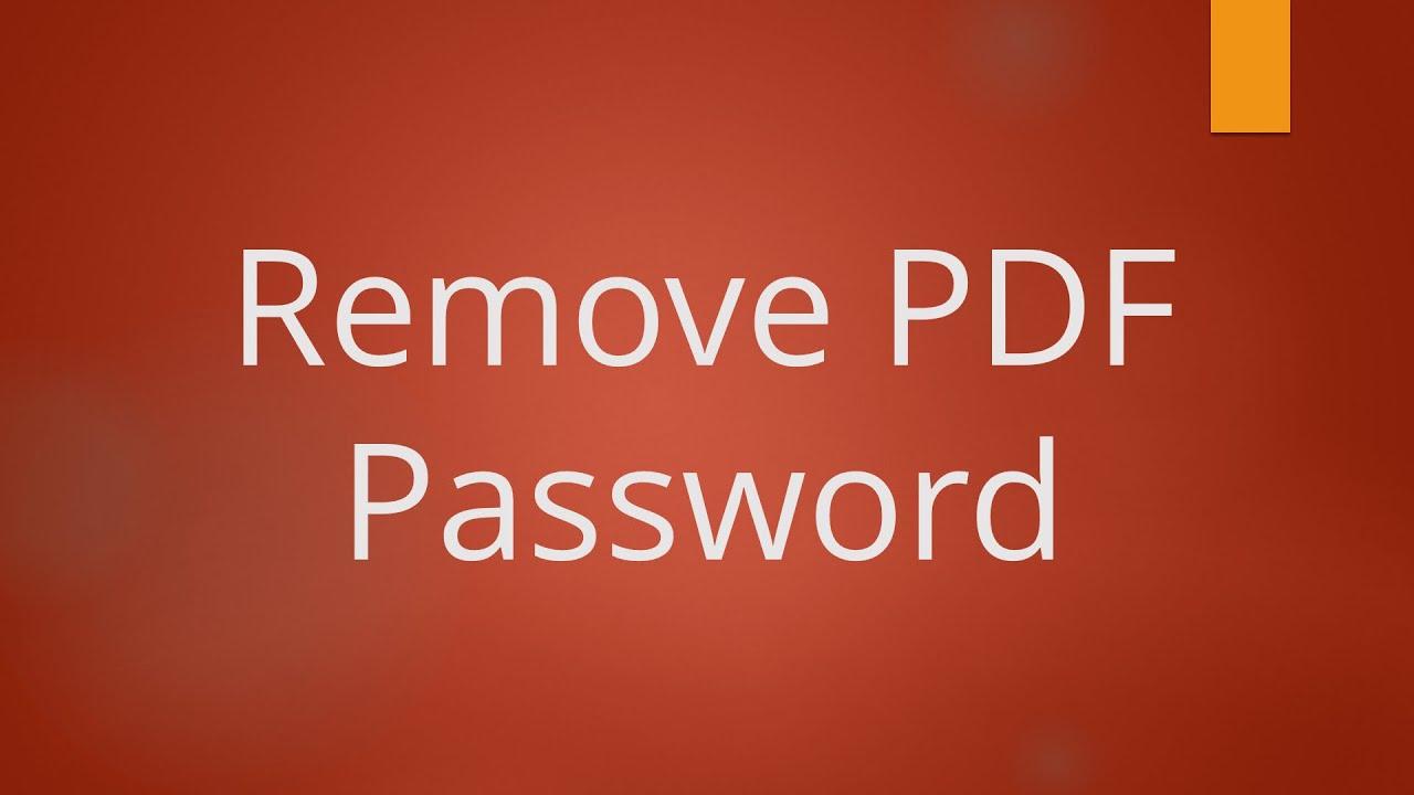 best paid pdf password remover