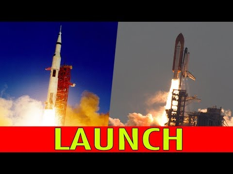 NASA LAUNCH : Apollo and Space Shuttle Launches in Incredible slow motion detail