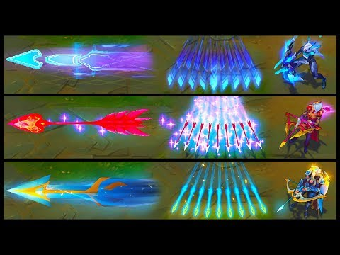 PROJECT Ashe vs Championship vs Heartseeker Legendary vs Epic Skins Comparison (League of Legends)