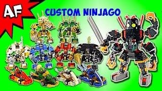 Custom Lego Ninjago MECHS & GO KARTS - Complete Collection!