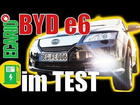 BYD e6 💚 Elektroauto Test von ECARIO.info
