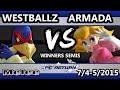 FC Return - [A] Armada (Peach) Vs. Tempo | Westballz (Falco) SSBM Winners Semis - Smash Melee