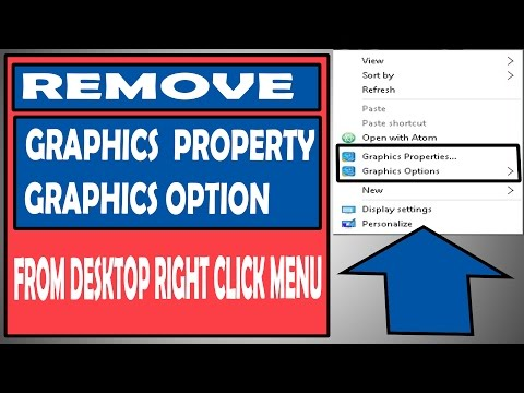 How To Remove Graphics Property Option From Windows Right click Menu | Registry Editing