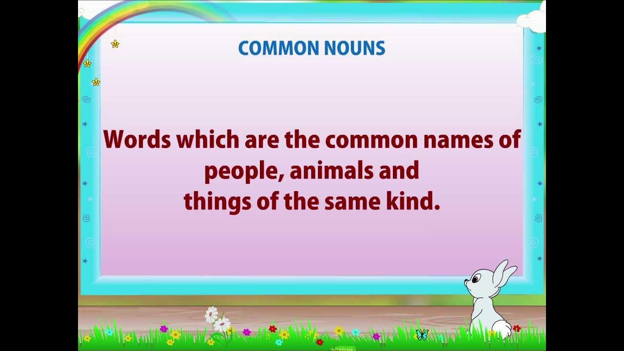 Learn Grade 2 - English Grammar - Nouns - YouTube