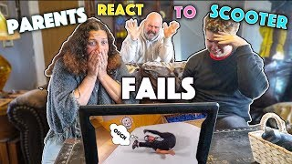 My Parent's React to SCOOTER FAILS!