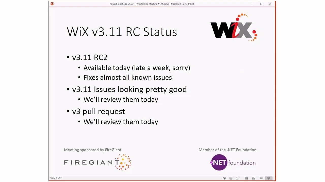 WiX Online Meeting #124 Highlights