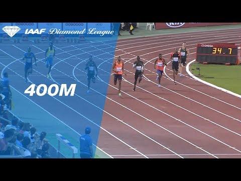 Steven Gardiner Wins Men's 400m - IAAF Diamond League Doha 2018