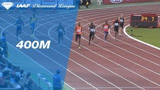 Steven Gardiner Wins Men's 400m - IAAF Diamond League Doha 2018