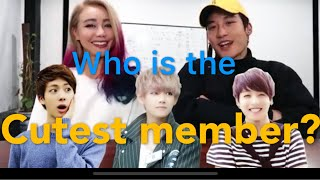 Wengie reacts to BTS! Cutest member of BTS??? MIC DROP