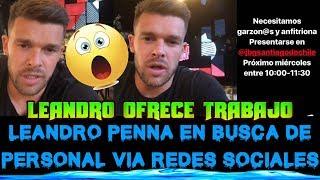 LEANDRO PENNA OFRECE PUESTOS DE TRABAJO PARA GARZONES Y ANFITRIONAS ... b4388b41b2bf1