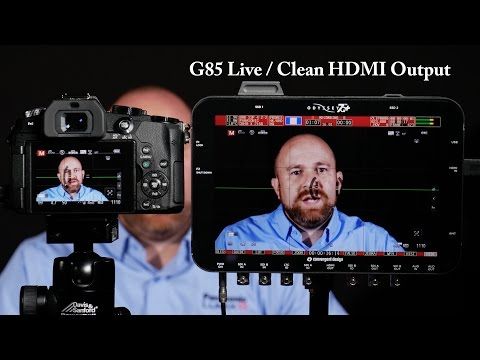 Panasonic LUMIX DMC-G85 Live Clean HDMI Output