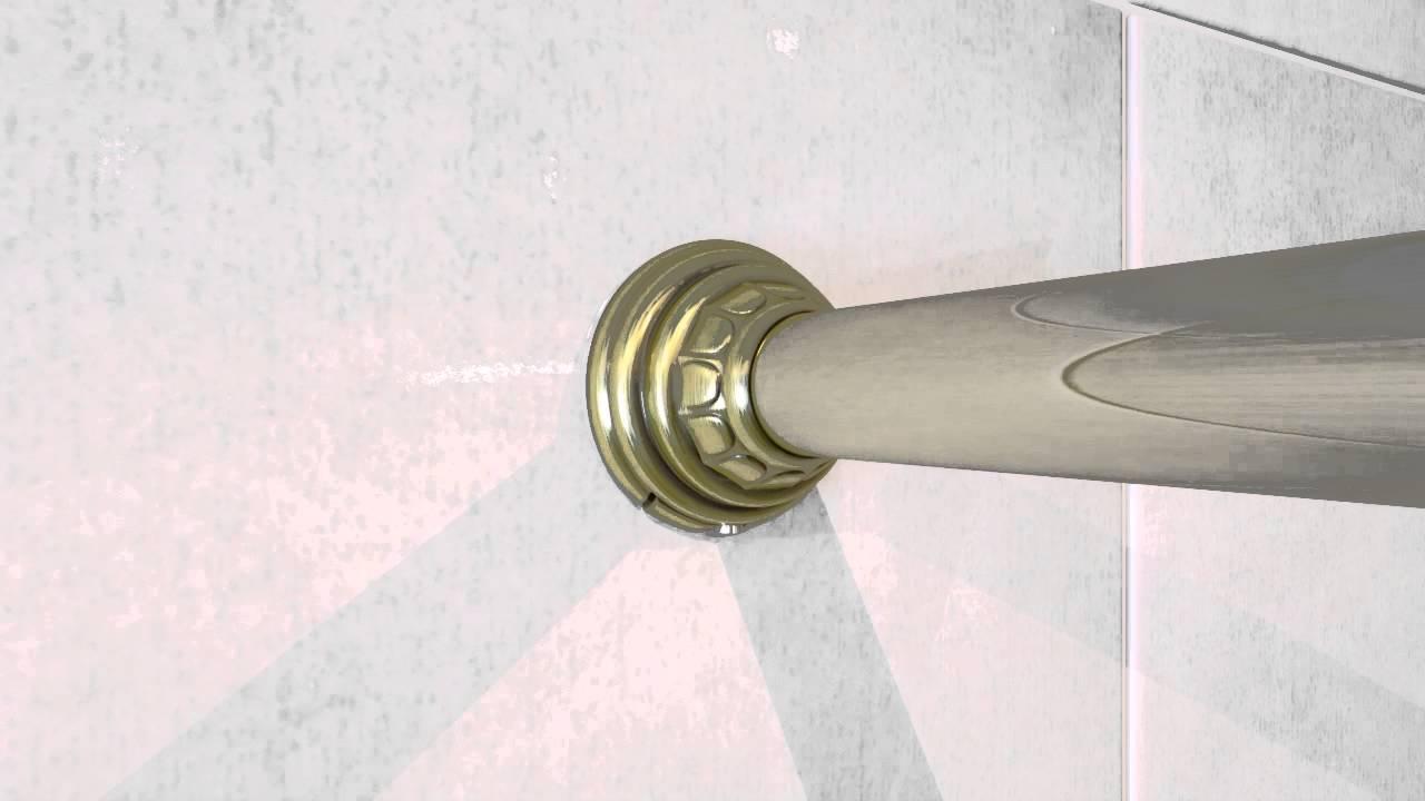 Установка карниза для шторы в ванной. - YouTube