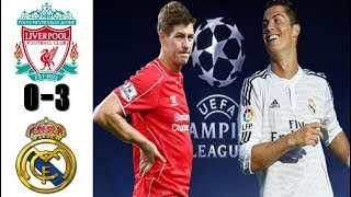 LIVERPOOL FC VS REAL MADRID, Resumen Goals and Highlights, UCL (22/10/2014)