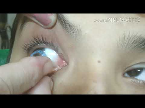 How To Apply Contact Lenses ( HINDI)Easy and Simple