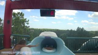 Downhill Double Dipper Tube Slide (HD POV) Blizzard Beach WDW