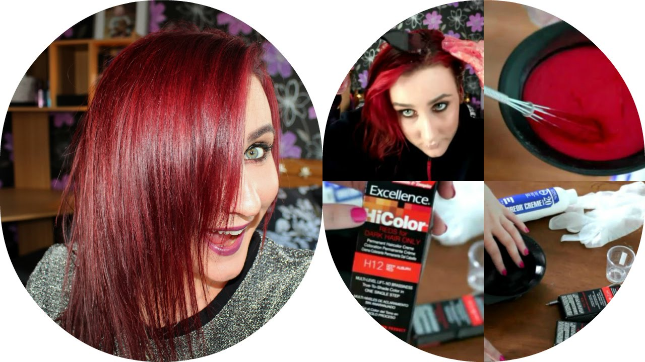 Dark Red Hair For The Autumn Youtube
