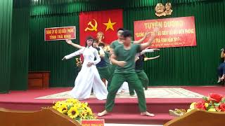 Múa Hát Mãi Khúc hành quân - Bộ Chỉ huy Biên Phòng tỉnh Trà Vinh