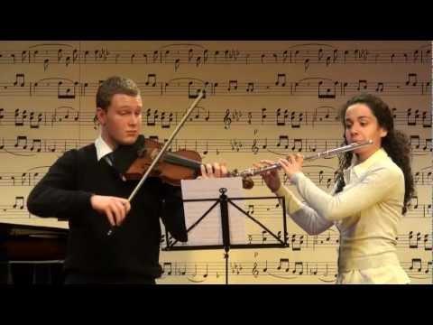 Telemann´s Canonic Sonata no. 2, D major, 1st Mvmt.