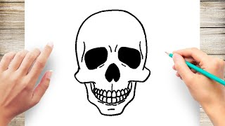 How To Draw Human Skull Step by Step