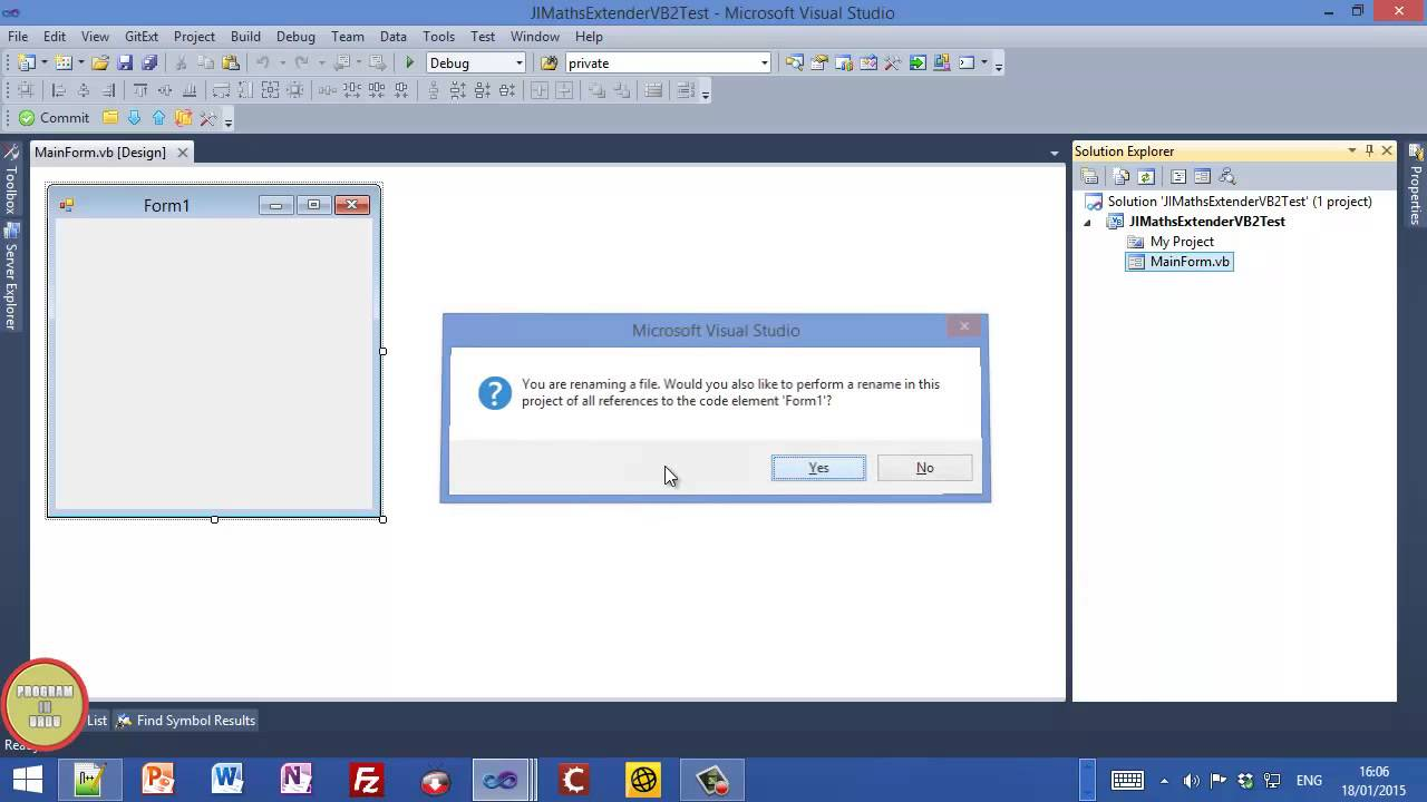 C# vb. Net tutorial winforms animated material design, bunifu ui.