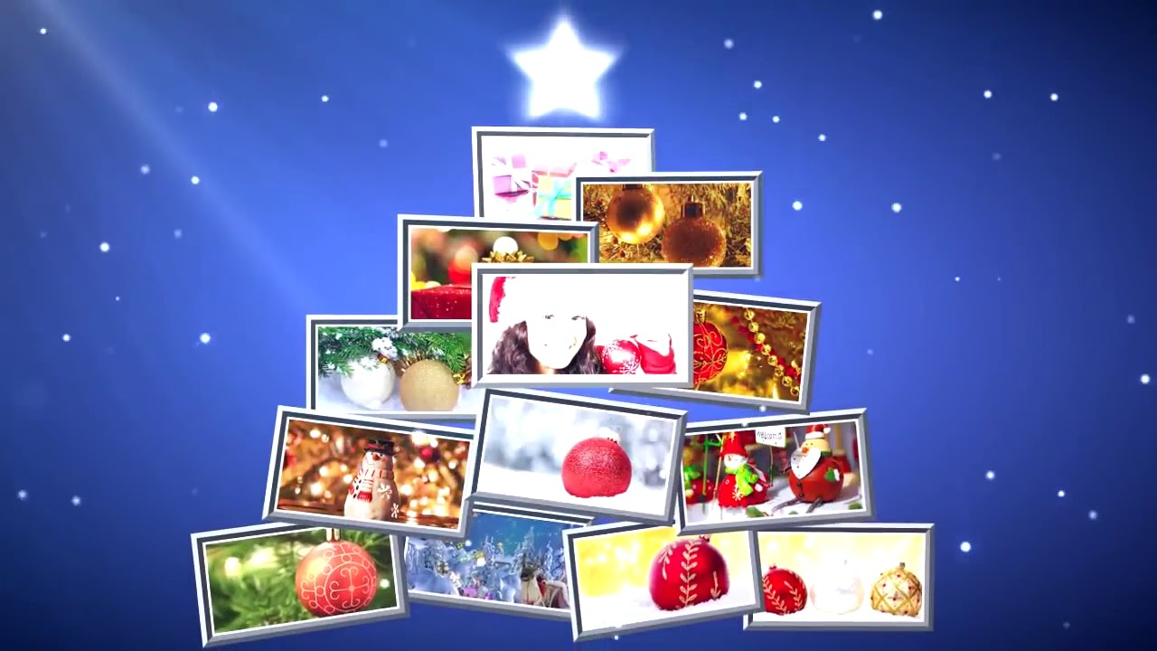 free sony vegas pro template : 'christmas card' - youtube, Powerpoint templates