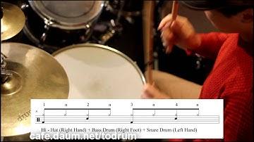 드럼 리듬 배우기 완전 초급 강좌 초보 레슨 8비트 악보 보는법