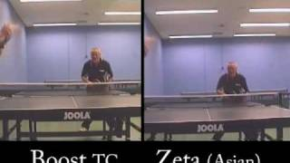 Reviewed: Stiga Boost TC vs  Xiom Zeta (Asian sponge) Table Tennis Rubbers