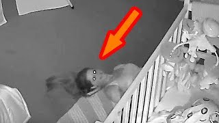 Dad Stops Scrolling Through Home Security Footage When He Notices Wife On The Nursery Floor