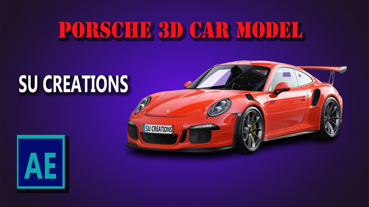 After Effects Element 3d Porsche Car Model Download Youtube