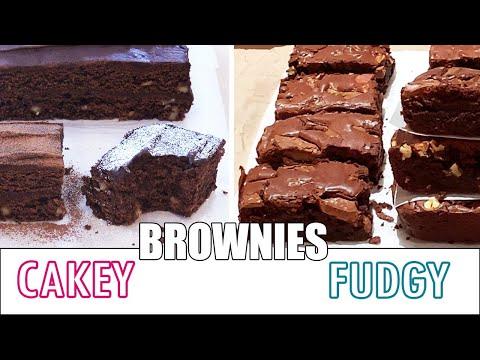 2-recettes-de-brownies:-cakey-avec-glaçage-au-chocolat-et-fudgy-extra-chocolat