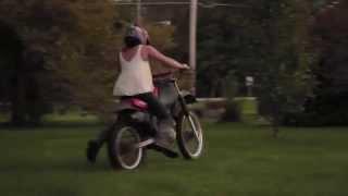 Girl Crashes Dirtbike from Whisky Throttle