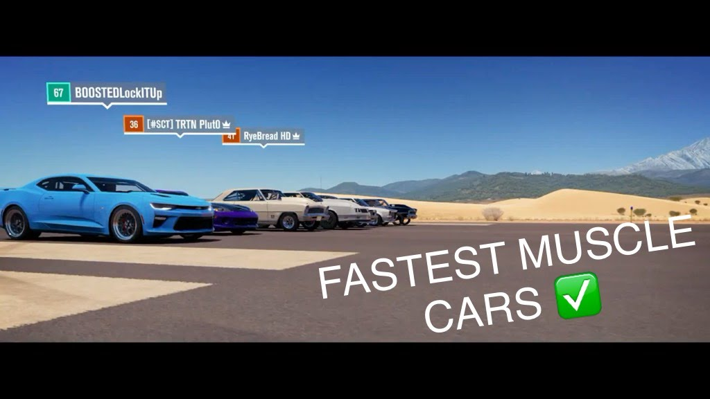 Forza Horizon Rwd Shootout Drone Mode Fastest Muscle