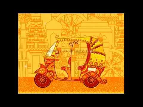 auto-raja-auto-rani-–-rajasthani-theme-a-golden-animated-traditional-colourful-wedding-invitation