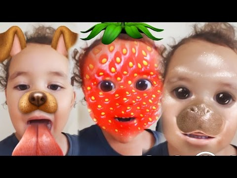 Baby Surprises Herself! Baby Reacts To Snapchat
