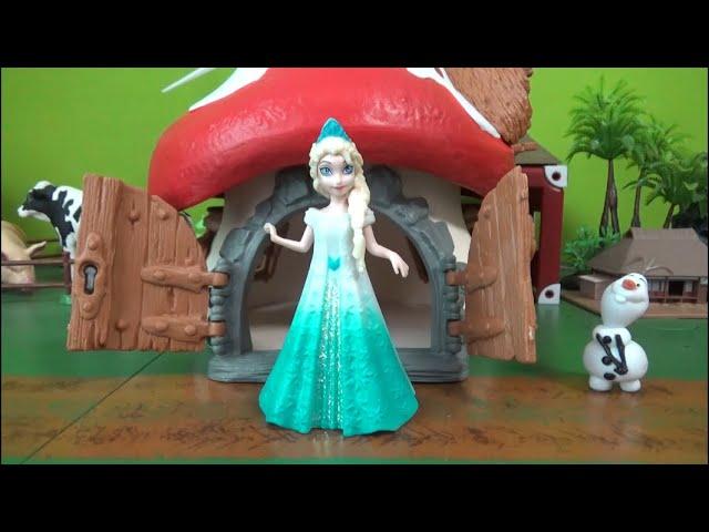 겨울왕국 엘사의 버섯하우스 외출 Frozen Elsa Mushroom House going out