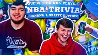 GUESS THAT NBA PLAYER CHALLENGE! SPRITE AND BANANA FORFEIT!