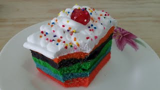 Steam Rainbow pastry Bnaien Ab Ghr pr/Without Oven Pastr.Steam Rainbow Pastry bykitchen with Fatima