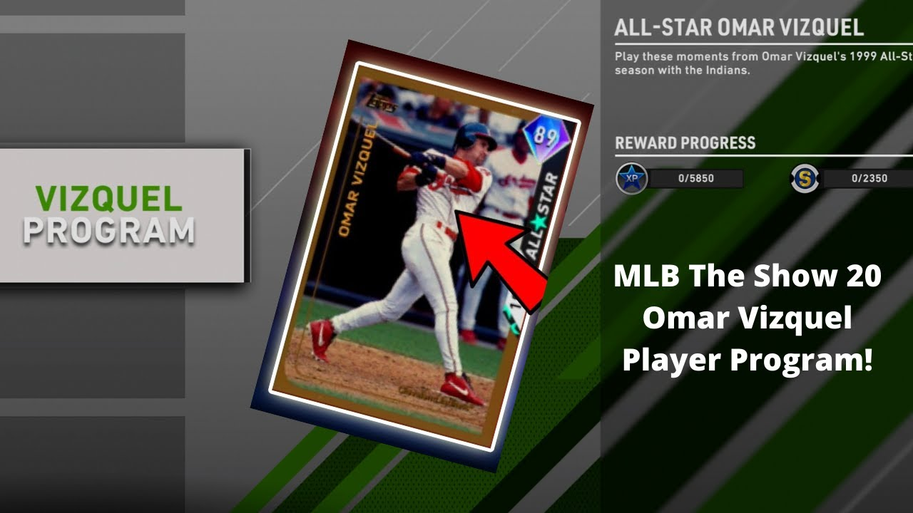 MLB The Show 20 New Omar Vizquel Moments Completed! (Free Diamond ...