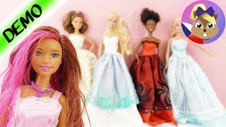 Nové šaty pro Barbie | 5 večerních šatů a 12 párů bot na módní přehlídku | Princeznovské oblečení