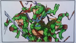 Drawing The Teenage Mutant Ninja Turtles | TolgArt